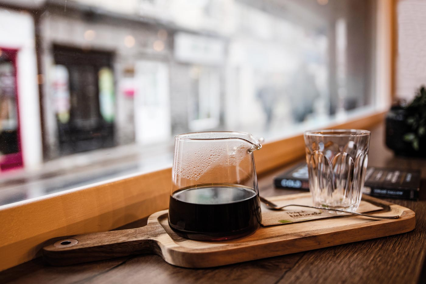 filter coffee in a jug