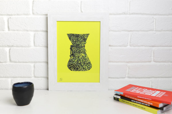 Limited edition Indy Coffee Guide screen print