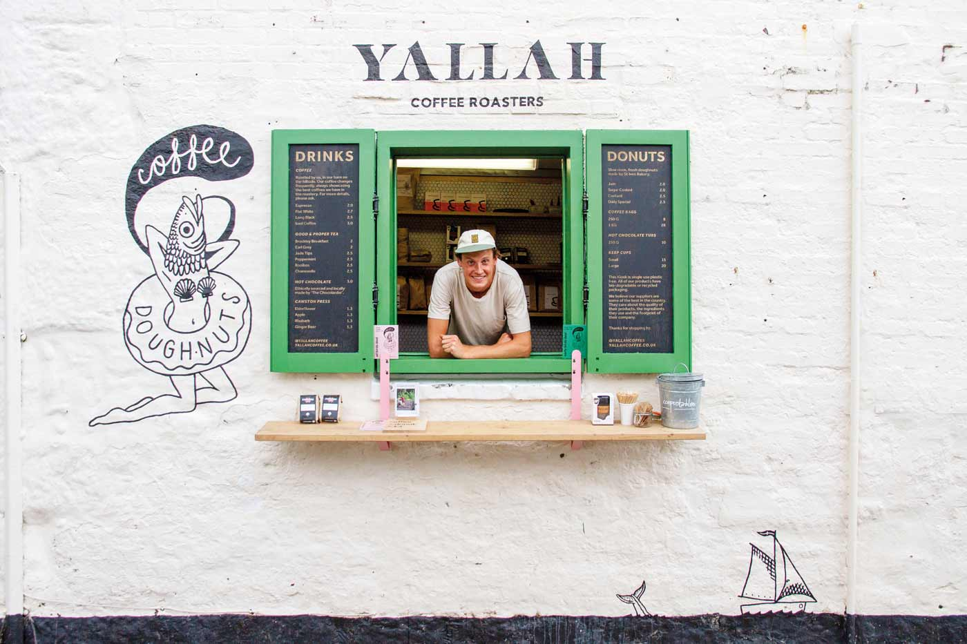 Yallah Coffee Kiosk in St Ives